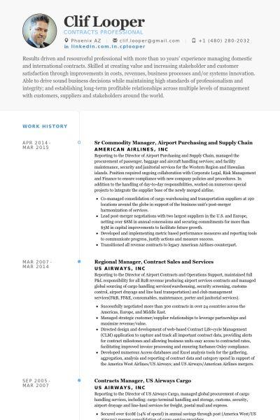 Purchasing Resume samples - VisualCV resume samples database