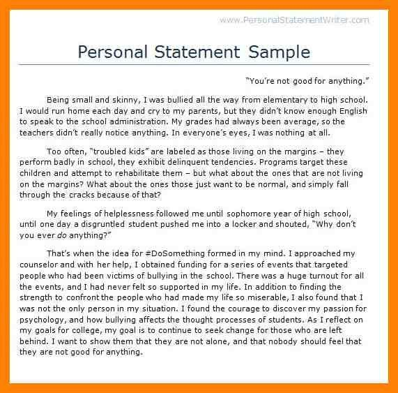 13+ student personal statement example | cv for teaching