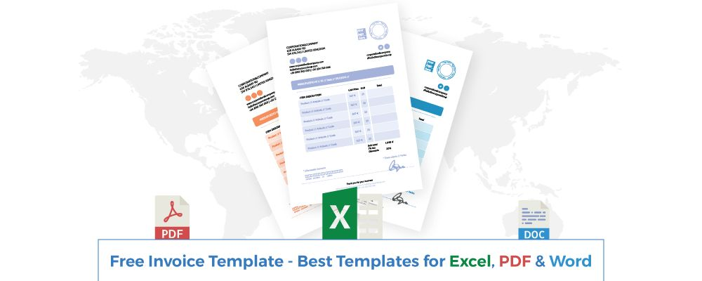 Invoice Template - Best Templates for Excel, PDF & Word