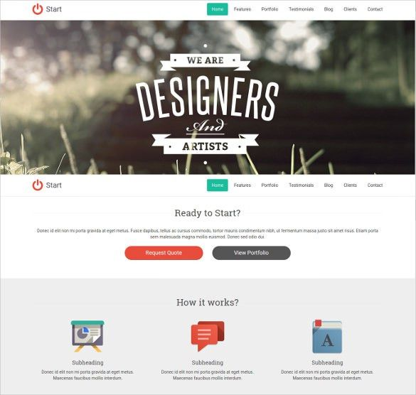38+ One Page Website Themes & Templates | Free & Premium Templates