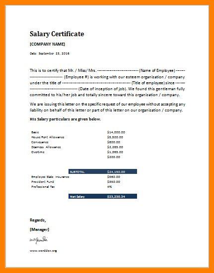 6+ salary certificate format in excel | forklift resume