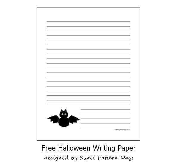 Free Halloween Bat Writing Paper | Halloween Printables ...