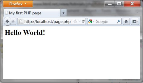 Lesson 3: Your first PHP pageentutorial - HTML.net