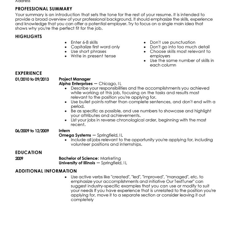 Classy Resume Writing Template 4 Free Templates 20 Best Templates ...