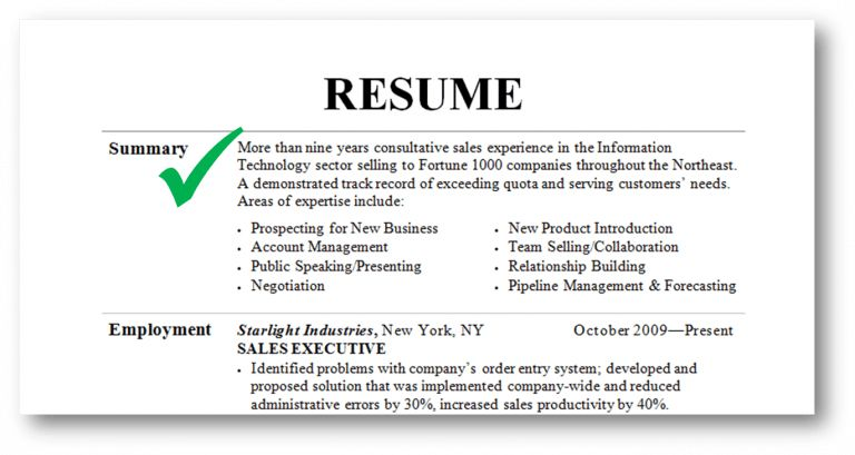 Summary Of Qualifications Resume - Template Examples