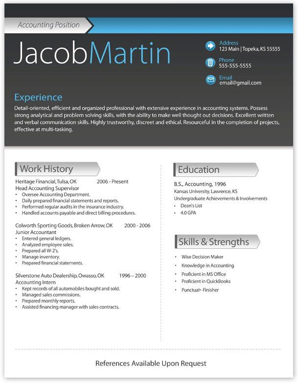 Breathtaking Free Modern Resume Templates For Word 24 For Your ...