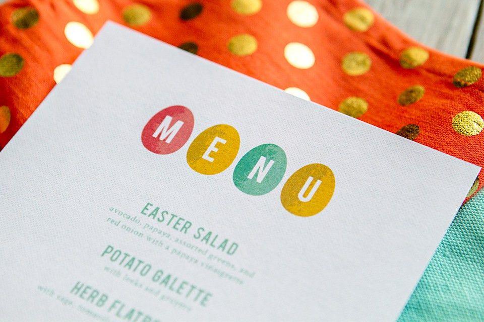 Printable Easter Menus - Sarah Hearts