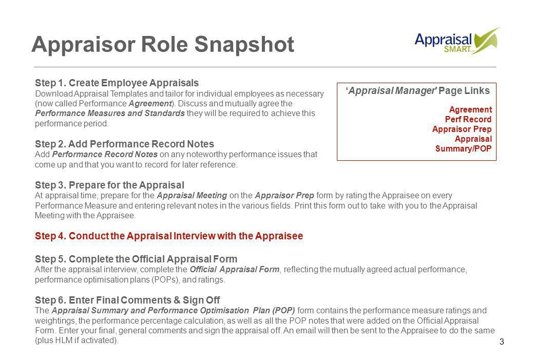 1 Appraisal Smart Quickstart Guide for Appraisors Last updated: 28 ...