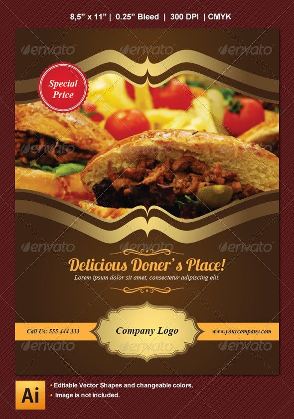 Food and Restaurant Flyer | Adobe illustrator, Advertising ideas ...