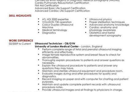 Medical Sonographer Medical Assistant Cover Letter Sample For ...