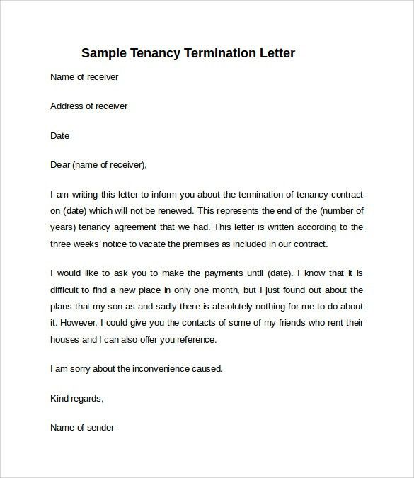 Notice Vacate To Letter. Printable Sample 30 Day Notice To Vacate ...