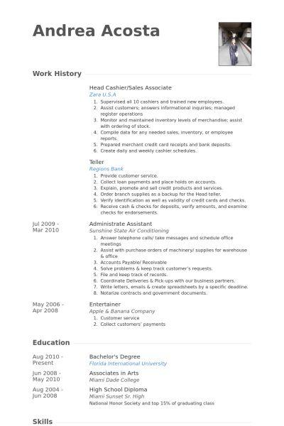 cashier combination resume sample. sample cashier resume resume ...