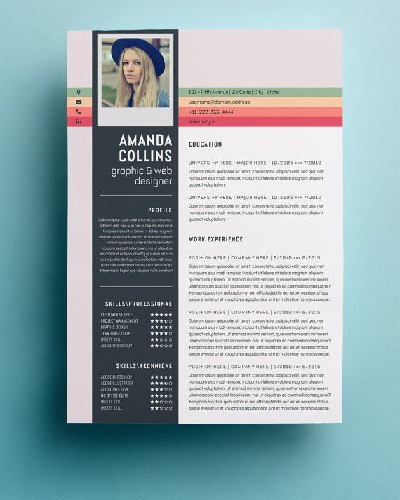 Resume Template | Professional, Creative and Modern Resume Design ...