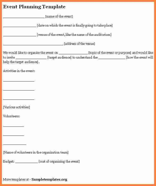 Event Contract Template. Event Planner Contract Template 10 Event ...