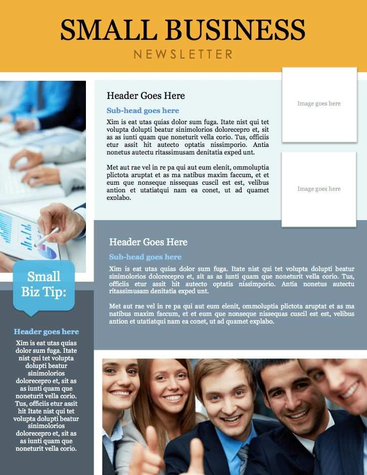 Small Business Newsletter Template (Microsoft Word File) – DIY ...