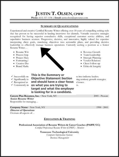 sample resume objective sentences resume objective statements