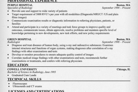 tech resume examples and radiologic technologist resume sample ...
