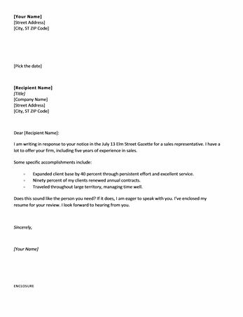 Short Cover Letter Sample - CV Resume Ideas