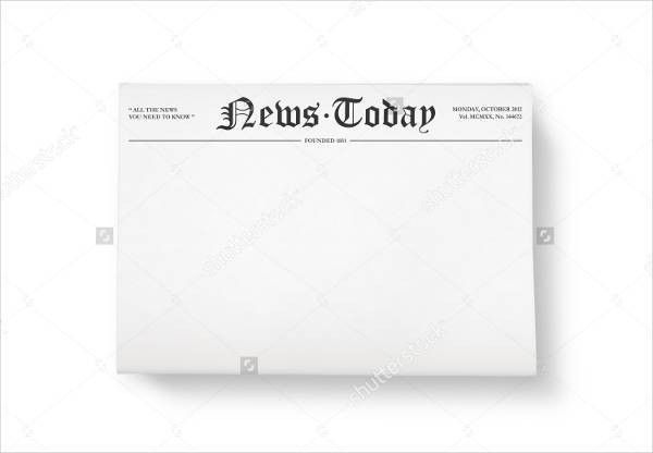 45+ Printable Newspaper Templates | Free & Premium Templates