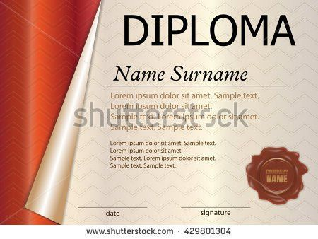 Certificate Template Employee Month Stock Vector 168090452 ...