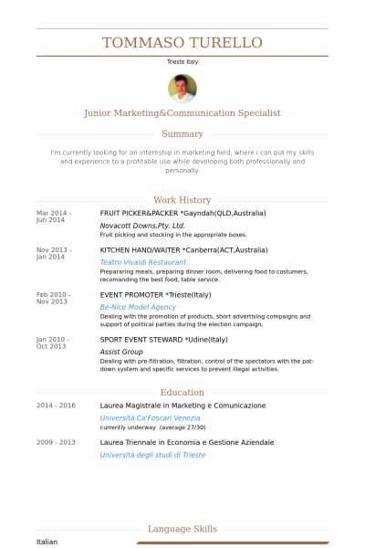 Packer Resume samples - VisualCV resume samples database