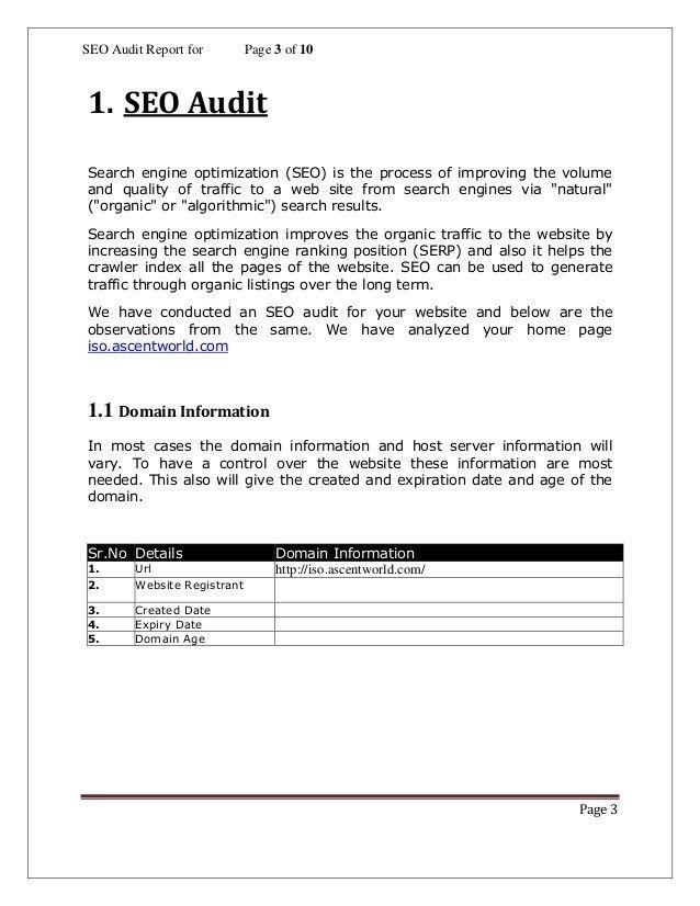 Seo analysis report template (1)