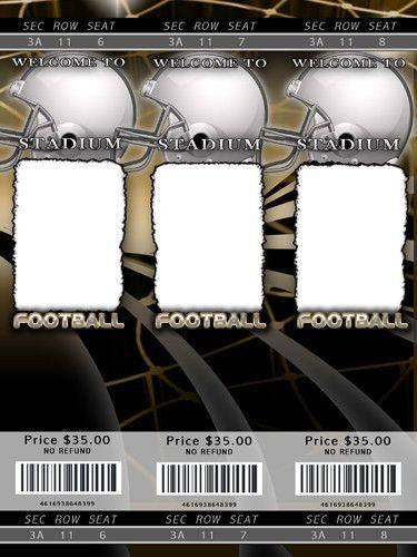 football ticket design template