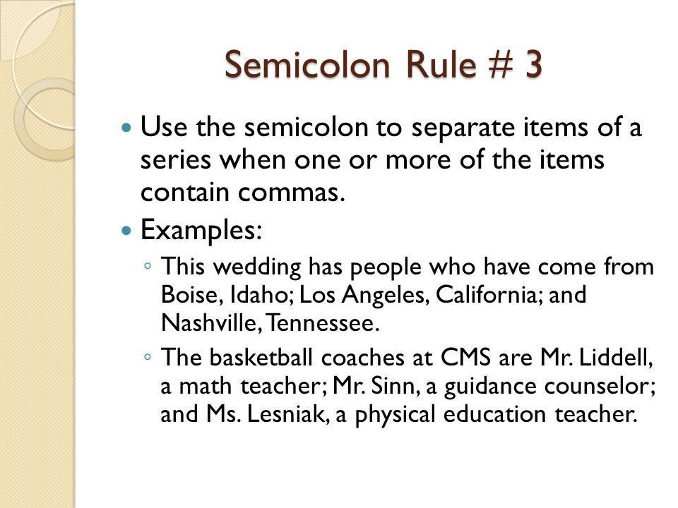 Colons, Semicolons, and Dashes - ppt video online download