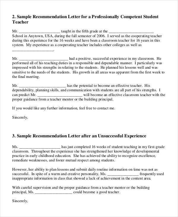 35+ Simple Recommendation Letter Templates - Free Word, PDF ...