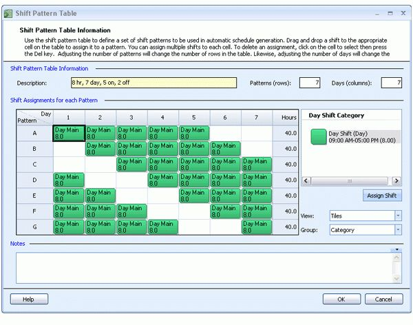 Employee Scheduling Example: 8 hours a day, 7 days a week, 5-on 2 ...