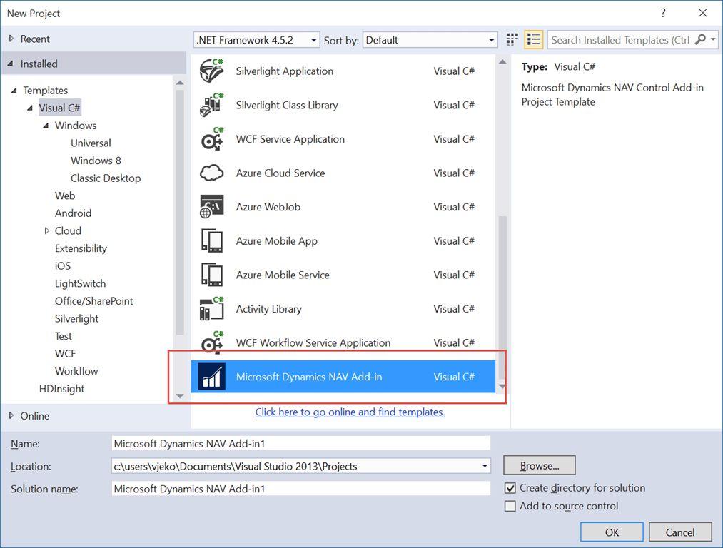 Visual Studio Control Add-in Project Template - Vjeko.com