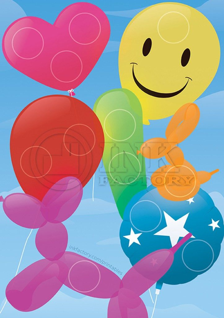Balloon style kids reward chart FREE download. Comes with matching ...