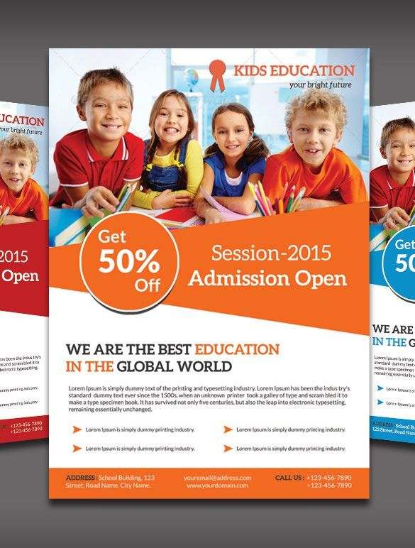 15+ Best Academic Flyer Templates & Designs | Free & Premium Templates