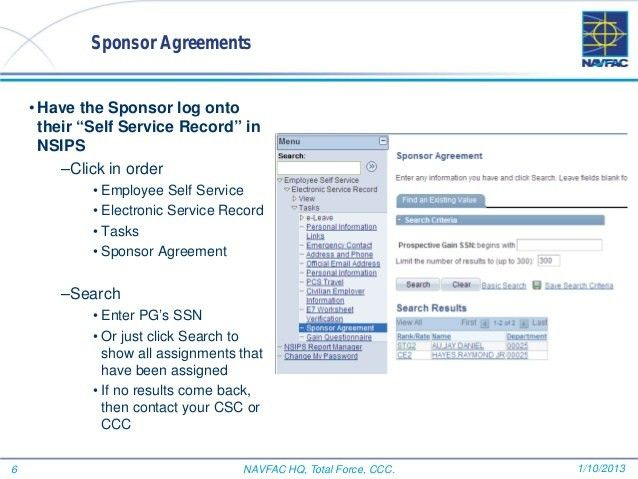 Sponsorship in CIMS step by step