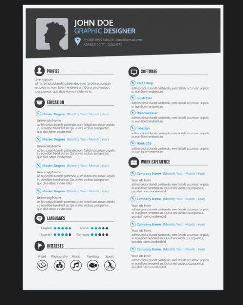 Download Resume For Graphic Designer   haadyaooverbayresort.com