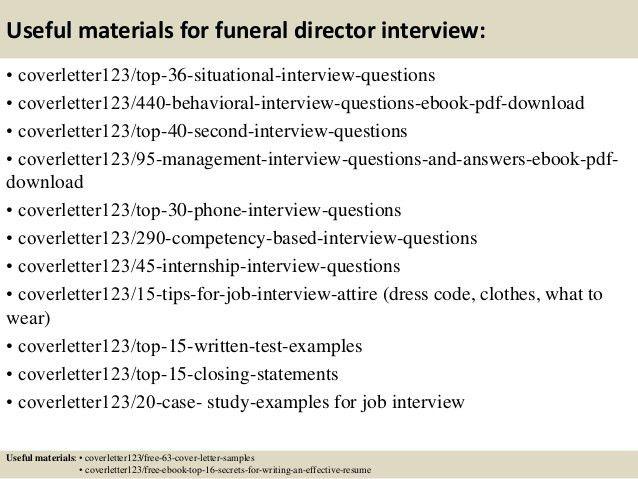 funeral director resumes - Romeolandinez