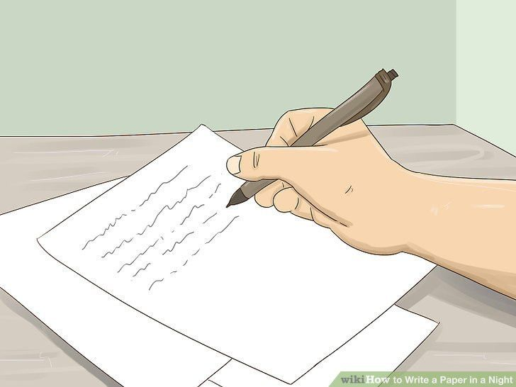 3 Ways to Write a Paper in a Night - wikiHow