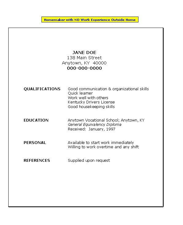 No Experience Resume Template Best Business Template Sample Resume ...