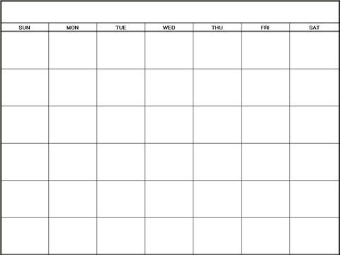 Blank Monthly Calendar 2016 Printable Calendar Template 2016 ...