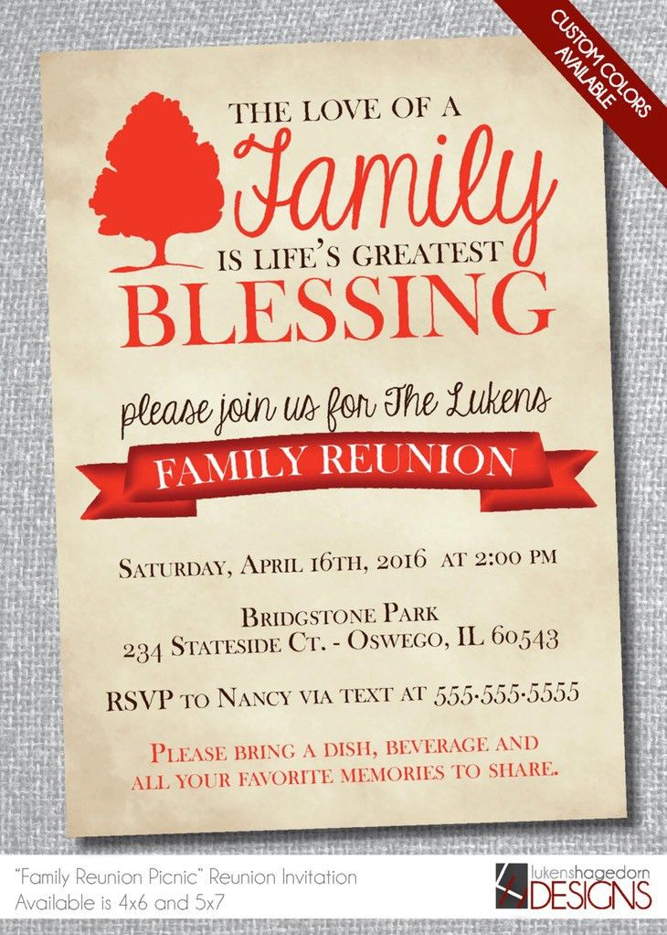 Family Reunion Invitation Templates | Belcantofour