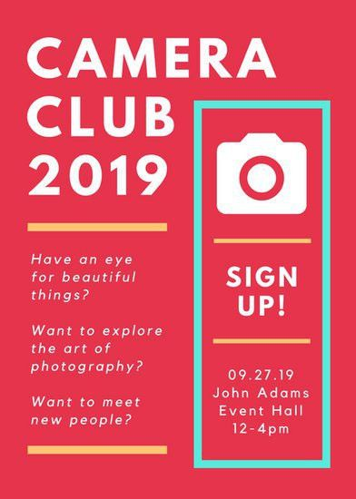Camera Club Sign Up Flyer - Templates by Canva