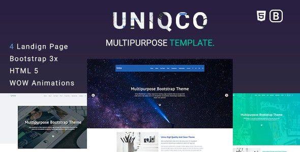 Uniqco - Multipurpose Responsive Bootstrap Landing page Template ...
