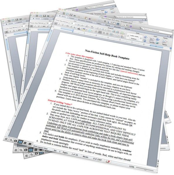 PRODUCT-Non-Fic MS Word Book Templates - The Book Ninja®