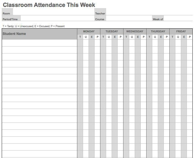 Attendance List. Attendance Sheet Template Excel Best 25+ ...