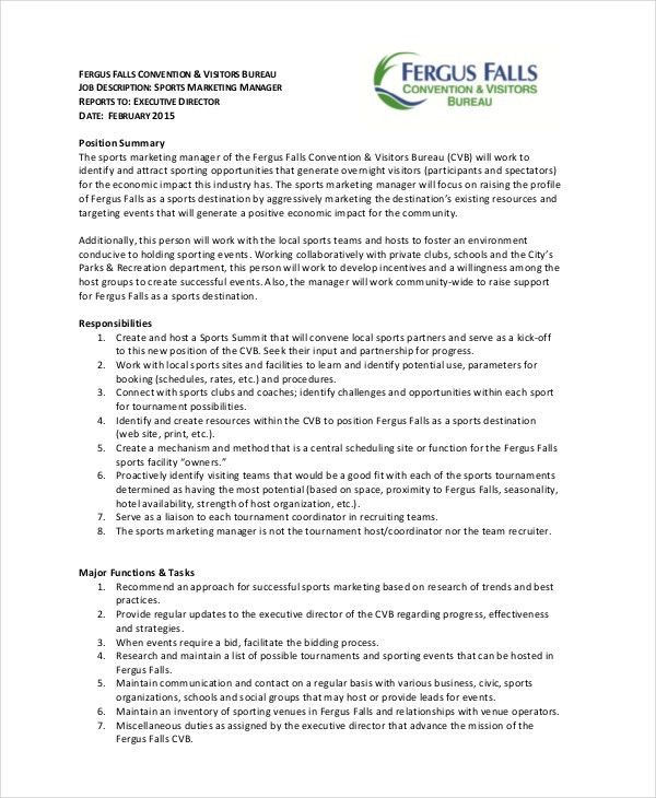 19+ Marketing Job Descriptions - Free Sample, Example, Format ...