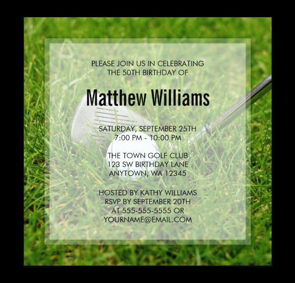 25+ Fabulous Golf Invitation Templates & Designs | Free & Premium ...