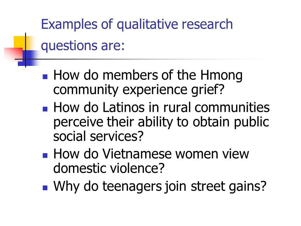 Hypothesis & Research Questions Understanding Differences between ...