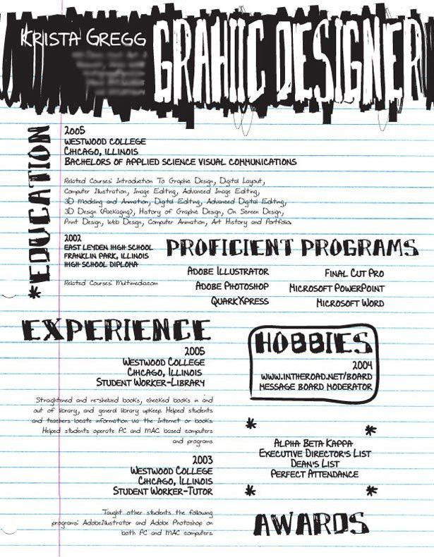 30 Artistic and Creative Résumés | Graphic design resume, Design ...