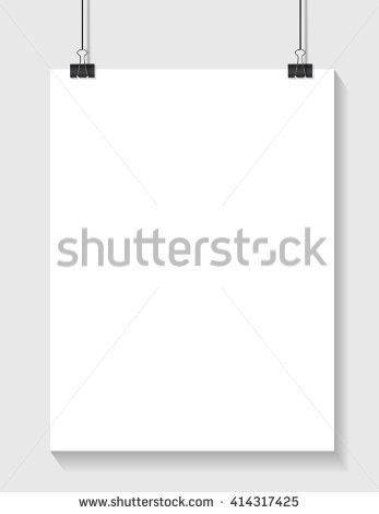 White Paper Template Place Your Text Stock Vector 414317425 ...