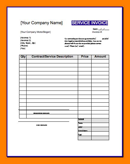 5+ contractor invoice template word | meal plan spreadsheet